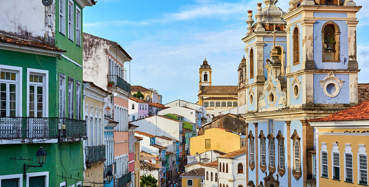 activities in brazil: View of Salvador historic street