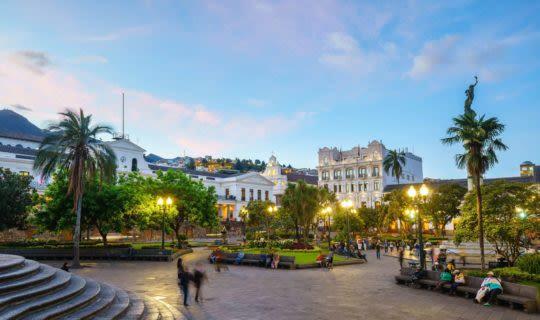 Plaza Grande during sunset