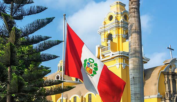 yellow building in barranco neighborhood lima peru