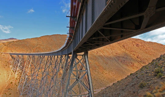 train to the clouds bridge