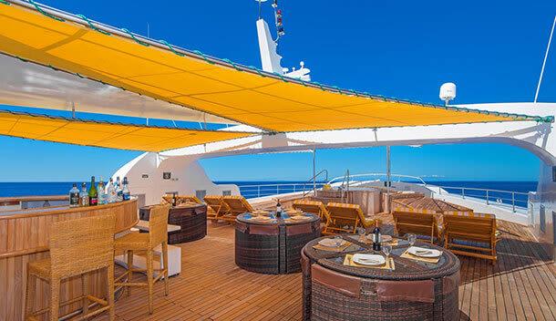 deck of the galapagos petrel cruise