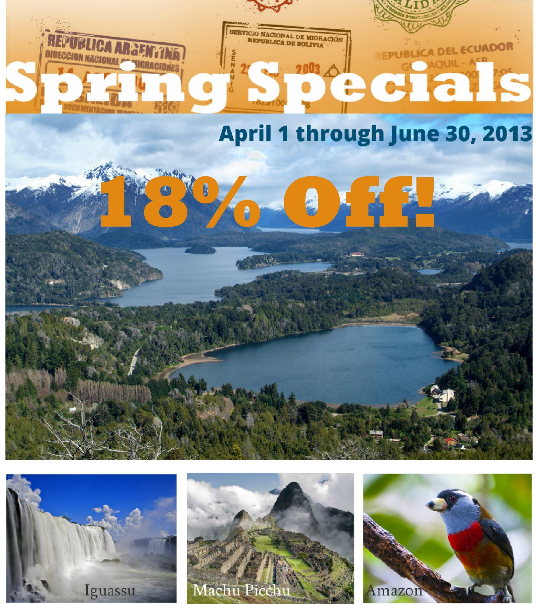 South America travel deal spring special