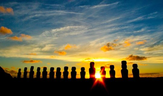 the-moai-heads-of-easter-island-at-sunset