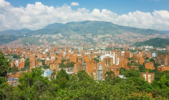 view-of-the-medellin-skyline-on-a-colombia-tour