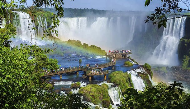 View of Iguazu Falls from the Brazilian side