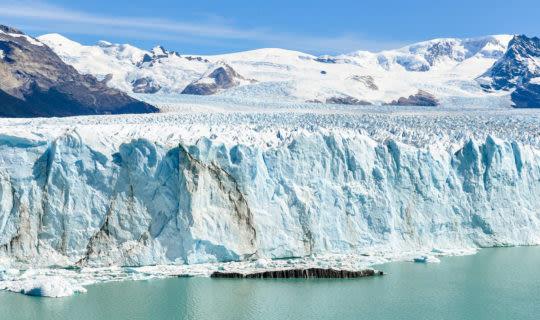 landscape of perito moreno glacier