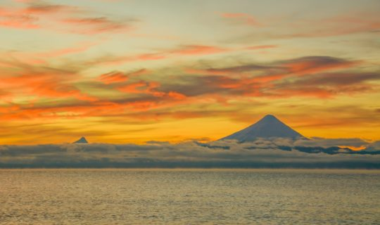 volcano-in-distance-with-beautiful-sunset