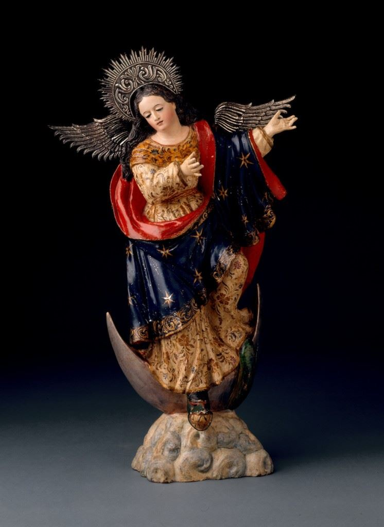 Virgin of the Fifth Seal ca.1740 Attributed to Bernardo Legarda, Peruvian, died 1773 Polychromed wood, silver 26 1/2in. (67.3cm) New Orleans Museum of Art