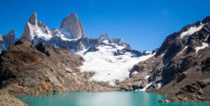 View of Fitz Roy Mountain and towers