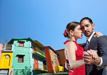 Colourful houses in Buenos Aires La Boca
