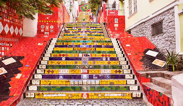 famous painted steps in rio