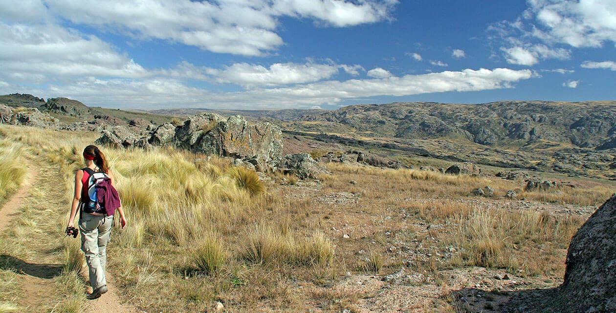 woman hiking in cordoba argentina