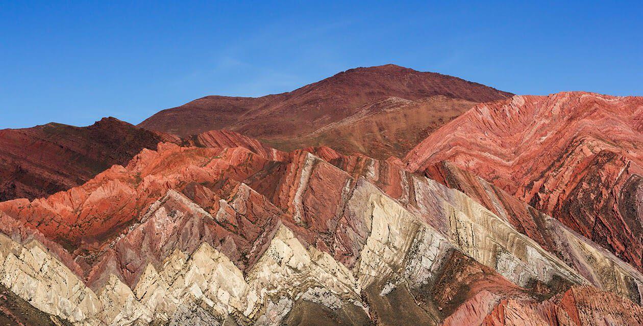 Humahuaca multi colored mountain