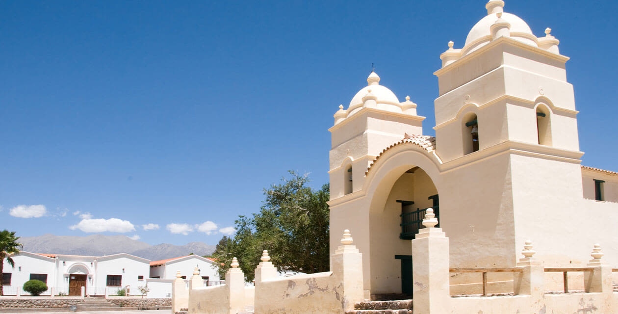 white washed church in Salta region