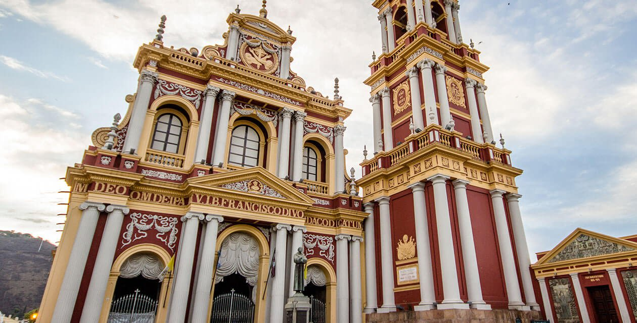 ornate cathedral in salta