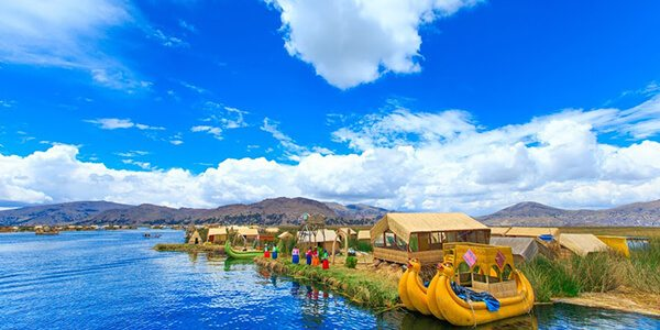 Summer Destinations - Lake Titicaca Floating Boats
