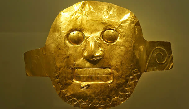 gold artifact in the museum