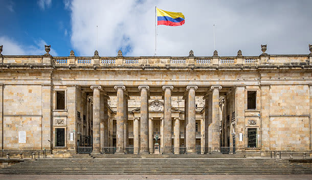 historic building in bogota colombia