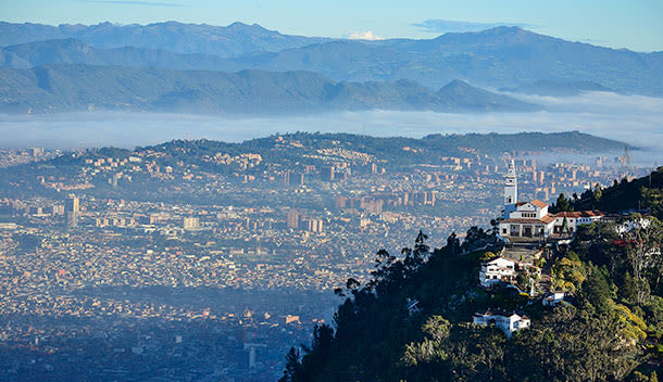 panoramic view of bogota city