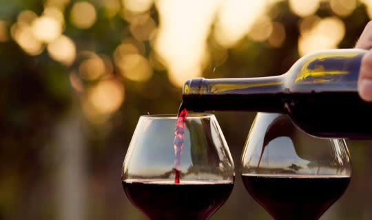 pouring-red-wine-on-a-food-and-wine-tour