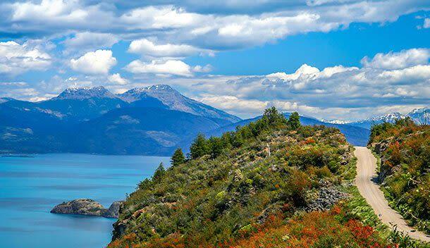 carretera austral road in patagonia