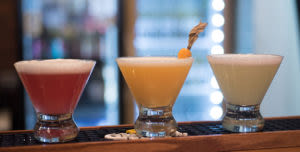 cocktails at the mojito bar
