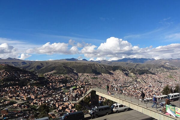 View from the top of El Alto