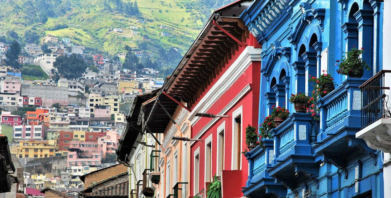 colorful buildings in quito