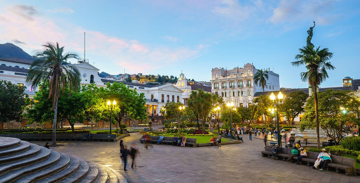 beautiful plaza in old town quito
