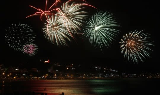 Fireworks in Rio de Janeiro on New Years Eve
