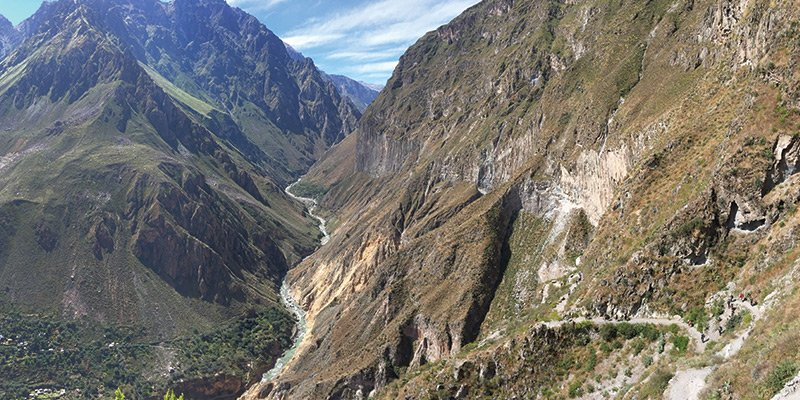 Aerial View of the Colca Canyon in Peru