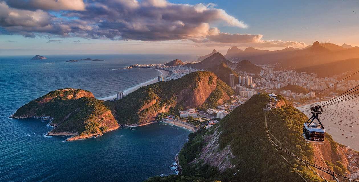 Rio during sunset