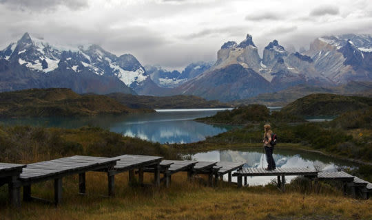 Cloudy skies over Patagonia