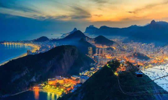View of Rio de Janeiro at night