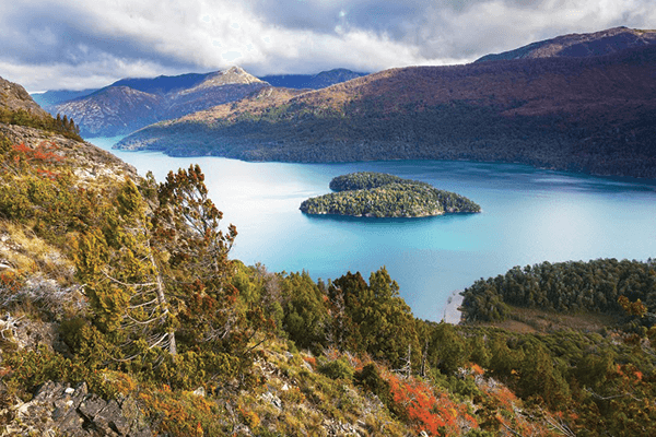 The Lake District in Argentina in the Fall