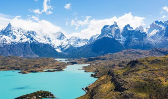 National park of Patagonia and lake