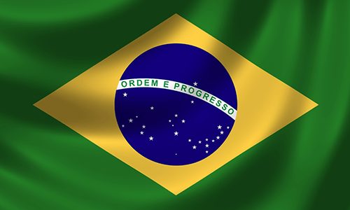 Brazil's country flag
