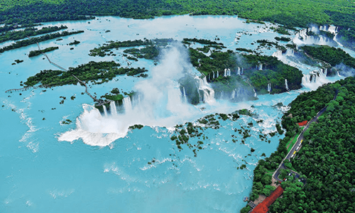 Ariel View of Iguazu Falls