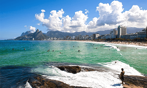 Ipanema Beach in Brazil