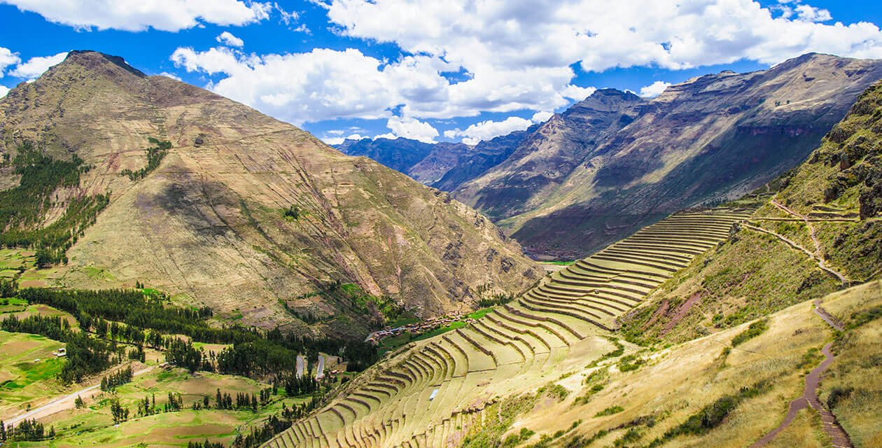 landscape of sacred valley peru