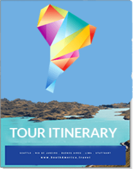 picture of the cover of a sample tour itinerary