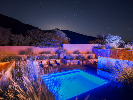 Outdoor spa area of hotel