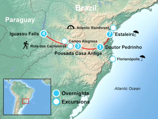 Brazil Adventure Tour Map