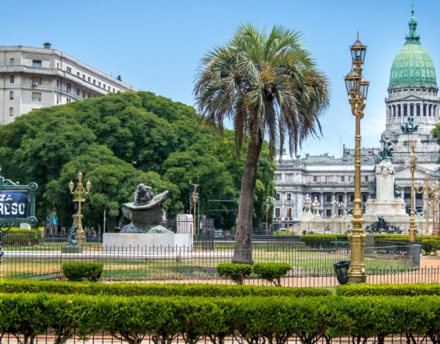 Beautiful view over the congress building in Buenos Aires