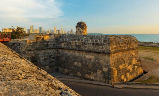 beautiful historic landmark in Cartagena Colombia