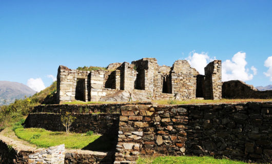 Close up view at Choquequirao ruin