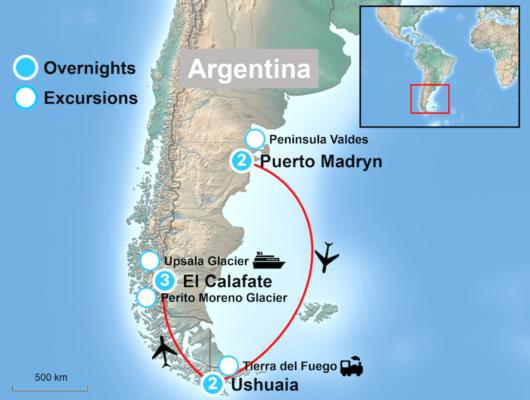 Classic Argentina Tour Map