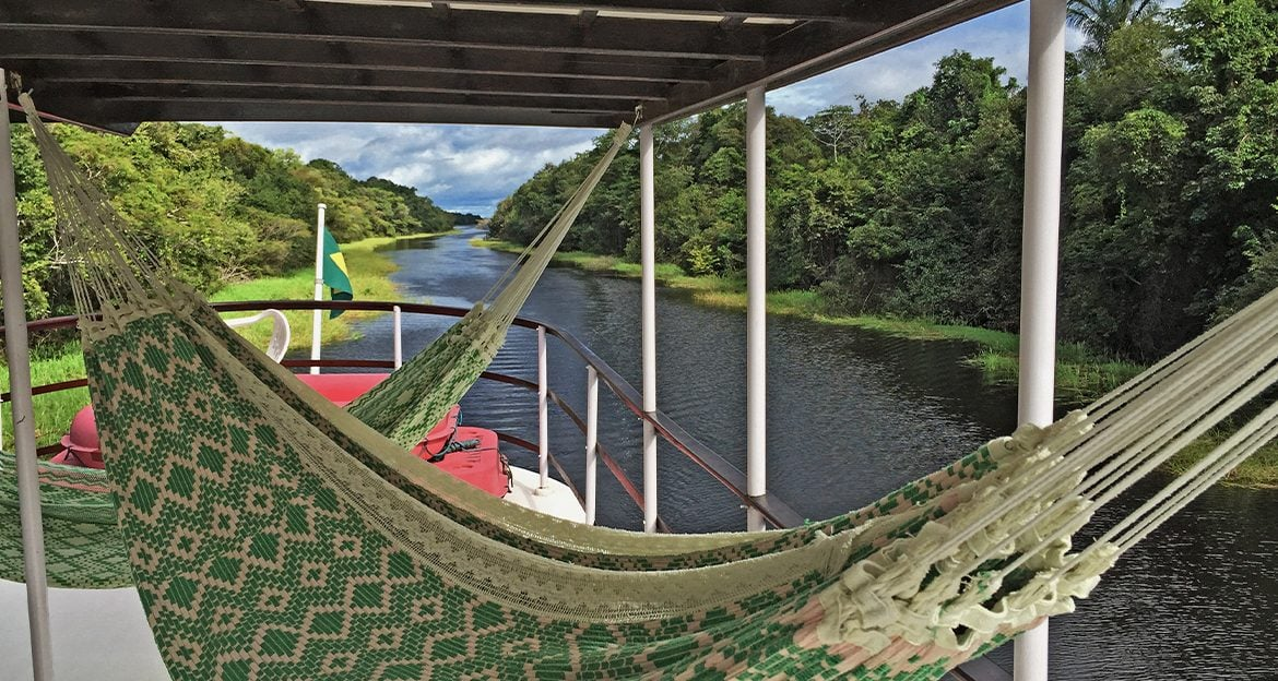 hammocks-on-the-amazon-clipper-with-beautiful-view-of-the-jungle