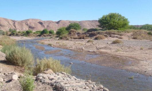 Cuesta de Miranda desert landscape and river