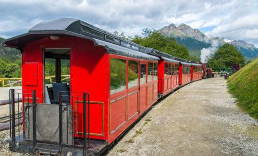 Vintage Train from Tierra Del Fuego